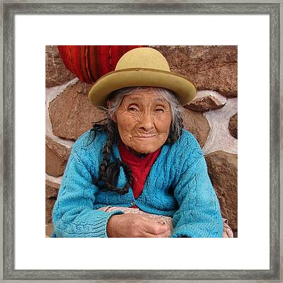 Peruvian Beauty Framed Print