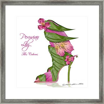Peruvian Lily Flos Calceus Framed Print by Blanchette Photography