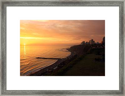 Peruvian Sunset Framed Print