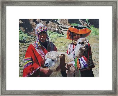 Peruvians Framed Print