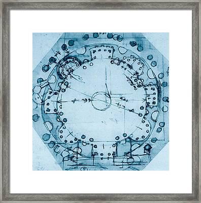 Peruzzi Baldassarre, Ideal Plan, 1530 - Framed Print by Everett