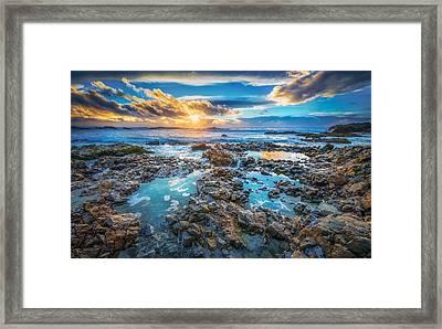 Pescadero Beach Sunset Framed Print by Michael Filippoff