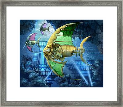 Pescatus Mechanicus Framed Print by Ciro Marchetti