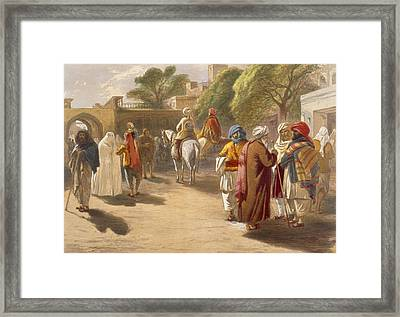 Peshawar Market Scene, From India Framed Print by William 'Crimea' Simpson