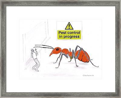 Pest Control Framed Print by Dan Twyman