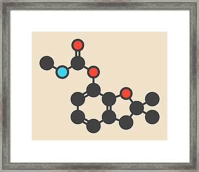 Pesticide Molecule Framed Print