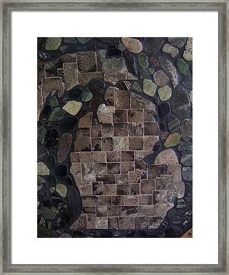 Pestoskey Stone Michigan Map Framed Print