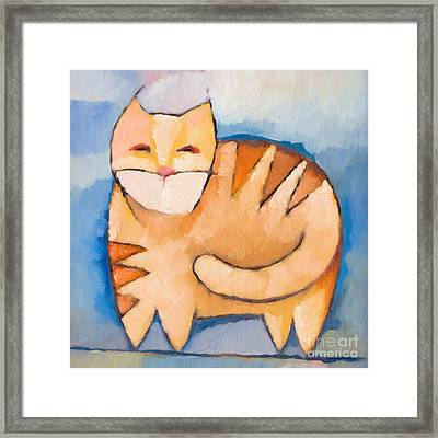 Pet Tiger Framed Print