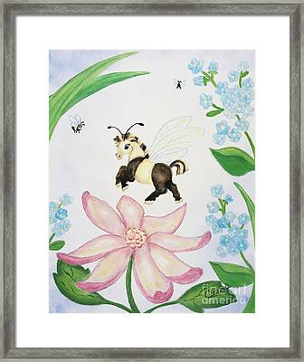 Petal Jumper Framed Print by Cathy Cleveland