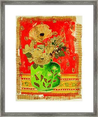 Petals And Leaves Framed Print by Diane Fine