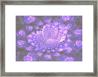 Framed Print featuring the photograph Petals Down The Rabbit Whole by Amanda Eberly-Kudamik