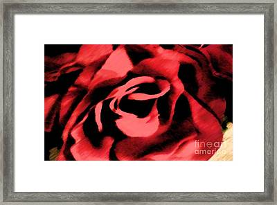 Framed Print featuring the painting Petals Of Velvetty Red by Catherine Lott