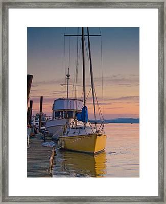 Petaluma River II Framed Print
