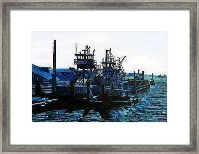 Petaluma Tugboats Framed Print by Gerhardt Isringhaus
