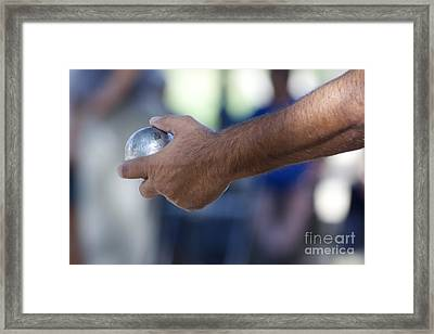 Petanque Game. Provence. France Framed Print by Bernard Jaubert