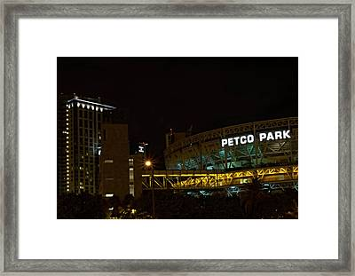 Petco Park Night Framed Print