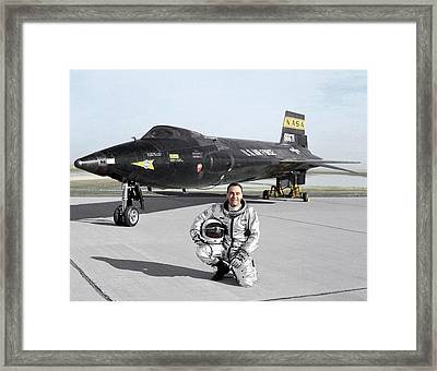 Pete Knight As X-15 Test Pilot Framed Print by Nasa