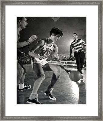 Pete Maravich Dribbling Framed Print