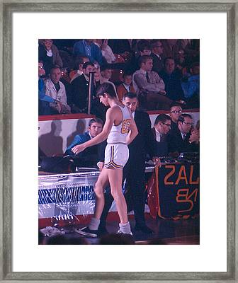 Pete Maravich Going To Sidelines Framed Print