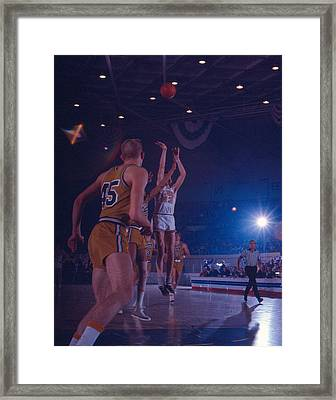 Pete Maravich Gorgeous Shot Framed Print