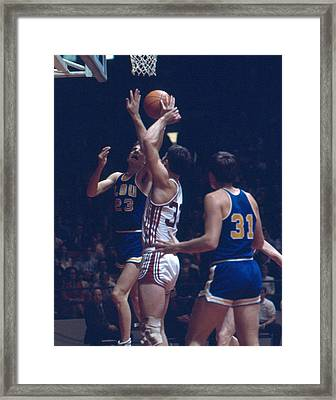 Pete Maravich In Traffic Framed Print