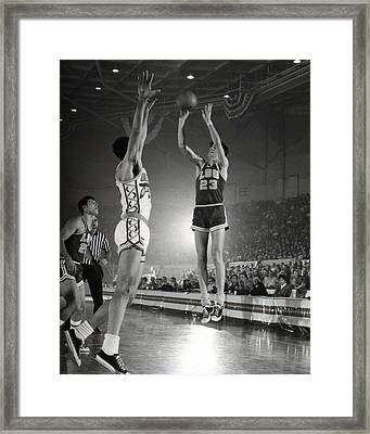 Pete Maravich Jump Shot Framed Print by Retro Images Archive