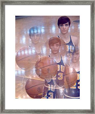 Pete Maravich Kaleidoscope Color 2 Framed Print