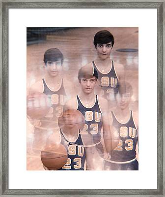 Pete Maravich Kaleidoscope Color Framed Print