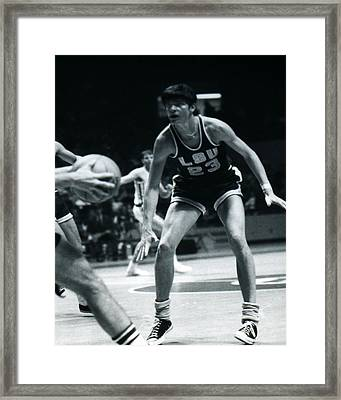 Pete Maravich Playing Defense Framed Print by Retro Images Archive