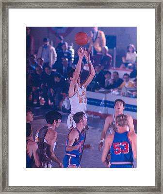 Pete Maravich Releasing Shot Framed Print