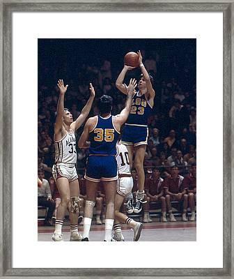 Pete Maravich Shooting In Traffic Framed Print