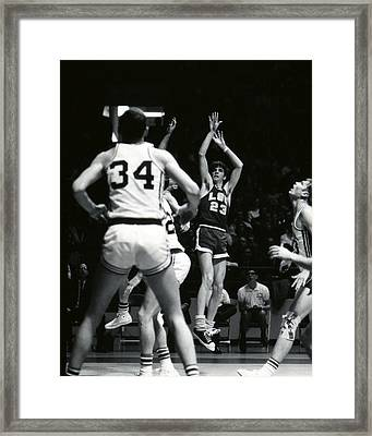 Pete Maravich Shooting Jumper Framed Print