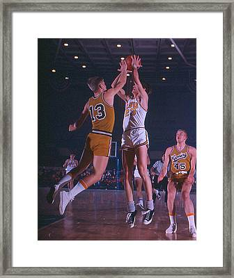 Pete Maravich Shooting Over Player Framed Print by Retro Images Archive