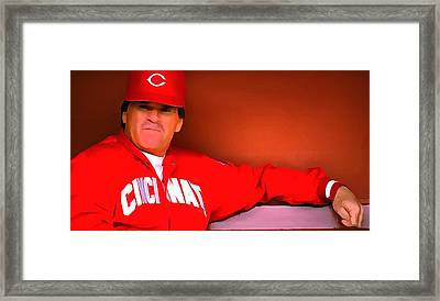 Pete Rose Framed Print by Dan Sproul