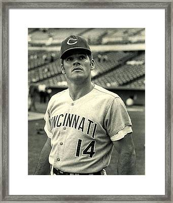 Pete Rose Looking Up Framed Print by Retro Images Archive