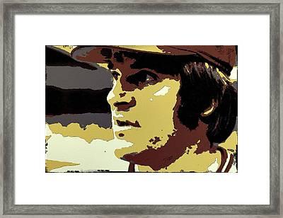 Pete Rose Portrait Art Framed Print