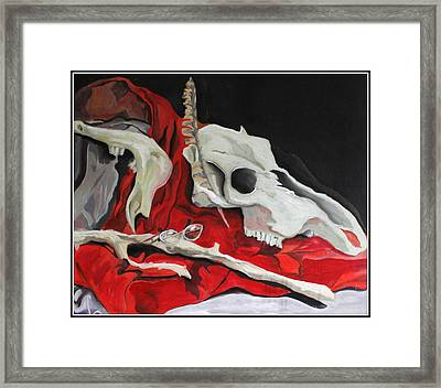 Pete The Skull Framed Print by Kip Krause