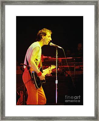 Pete Townsend Of The Who At Oakland Ca 1980 Framed Print