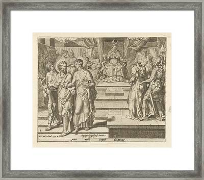 Peter And John Are Released, Philips Galle Framed Print