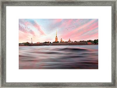 Framed Print featuring the photograph Peter And Paul Fortress by Roy  McPeak