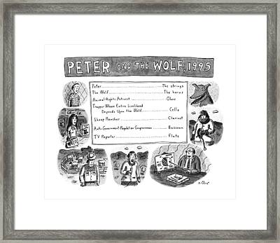 Peter And The Wolf Framed Print