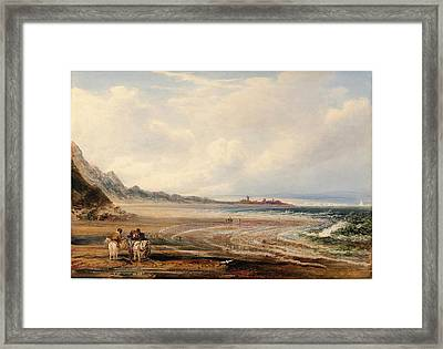 Peter De Wint, Travelers On The Sands Near Redcar Framed Print by Quint Lox