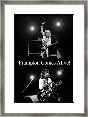Peter Frampton Live Framed Print