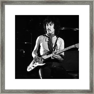 Peter Green 1969 In Bw - Square Framed Print by Chris Walter