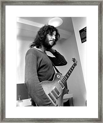Peter Green Fleetwood Mac 1969 Framed Print by Chris Walter