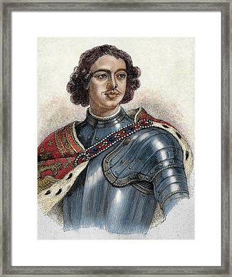 Peter I The Great (1672-1725 Framed Print by Prisma Archivo