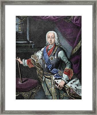 Peter IIi Of Russia (kiel Castle Framed Print by Prisma Archivo