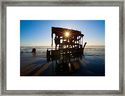 Peter Iredale Shipwreck, Fort Stevens Framed Print