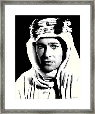 Peter O'toole Portrait Framed Print by Gabriel T Toro