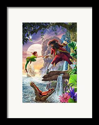 Captain Framed Prints